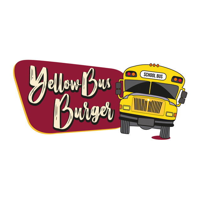 Yellow bus burger